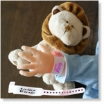 7740 - Accessories :  Hospital Wrist Band Sheet - Pink