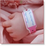 7709 - Accessories :  Hospital Wrist Band Sheet - PINK